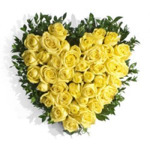 Yellow Funeral Heart